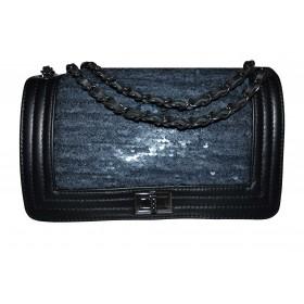 Shoulder bag with sequins...