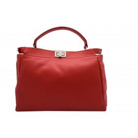 Handtasche aus Glattleder...